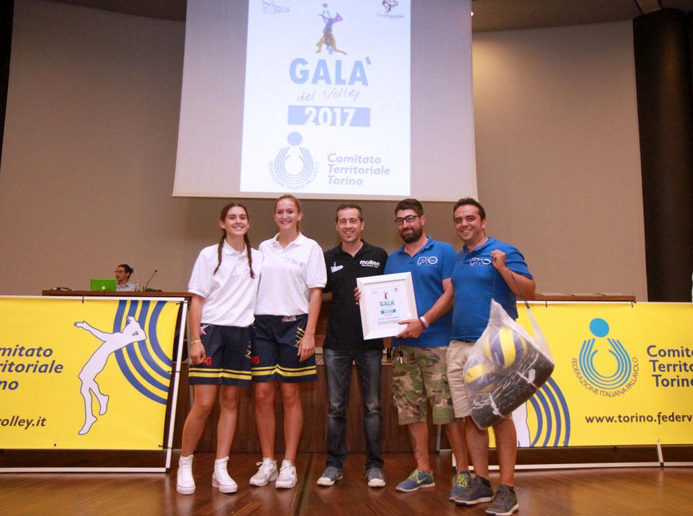 La Polismile premiata al Gala del Volley Fipav Torino